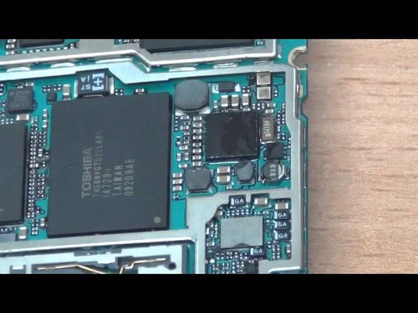 Замена микросхемы питания на Iphone 3gs