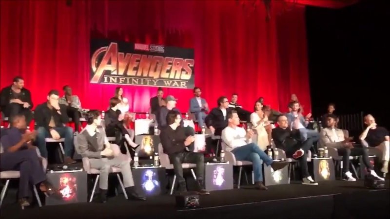 Avengers InfinityWar Press Conference in Los Angeles. - Jeff Goldblum Introducing the Cast