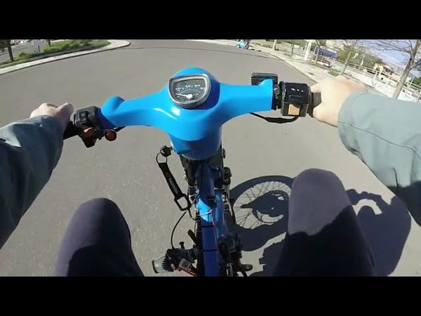Turbo honda cub 1st Ride!! - 1η βόλτα με το τούρμπο παπί