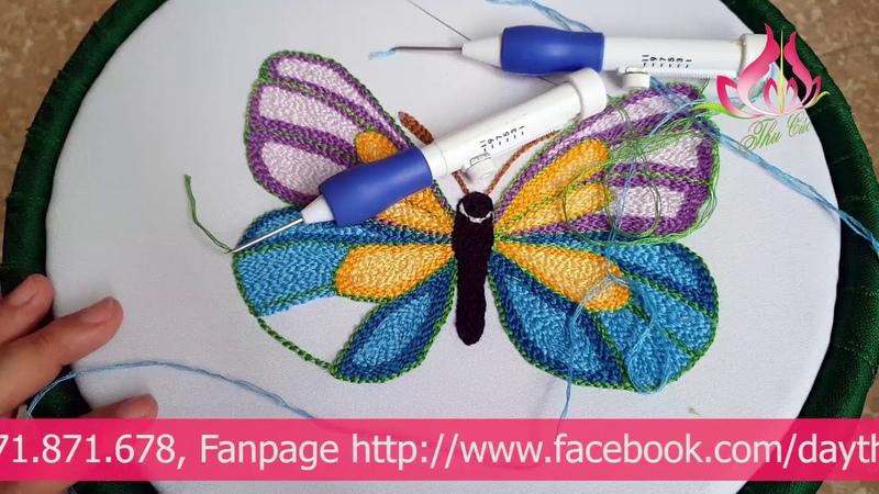 Hướng Dẫn CHI TIẾT Cách Sử Dụng Kim Thêu Nổi Kim Thêu Nổi Punch Needle Embroidery