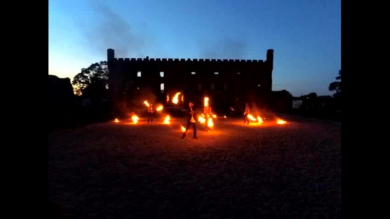 Фаершоу в Тевтонском замке Шаакен часть I