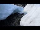 Горный ручей водопад ледник