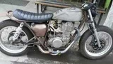 Caferacer Yamaha sr400 / xs650 exhaust motorcycle bobber