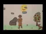Рисованная анимация маленьких студентов школы