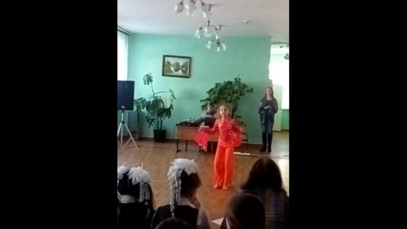 Валерия Леонова, выступление на выборах,школа55