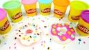 Los dónuts de plastilina. Play Doh para niños. Vídeo de juguetes.