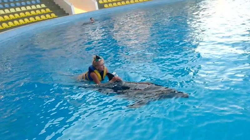 Александр Пистолетов и Маша Галактика Дельфин и русалка в дельфинарии