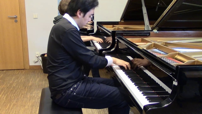 A Cruel Angel's Thesis Neon Genesis Evangelion piano duet with student
