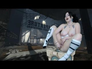 Portal - chell companion cube cum sexy (aymee) - game hentai erotic solo porno sex masturbate dildo uncensored cosplay