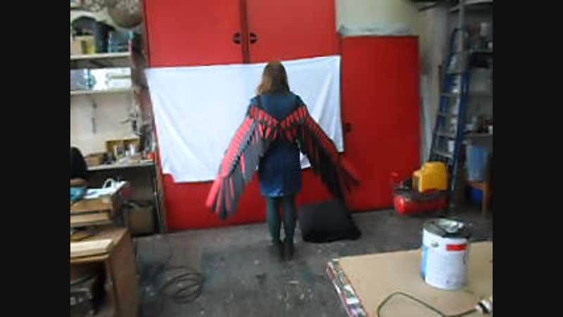 Складные крылья ручной работы.