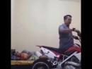 Разбудил друга мотоциклом
