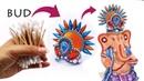 Cotton bud Mukut for Lord ganesha ji | Crown | cotton bud | ganesh chaturthi | Art with Creativity
