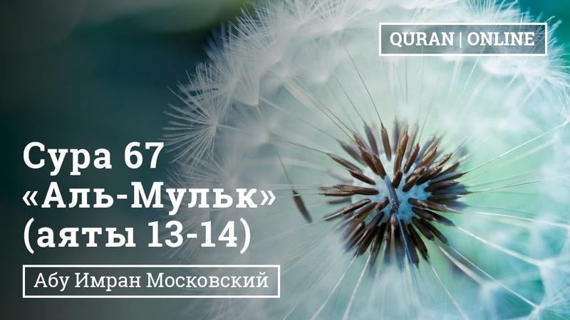 Сура 67 «Аль-Мульк Власть» 13 - 14 аяты | Абу Имран | Таджвид | Коран |