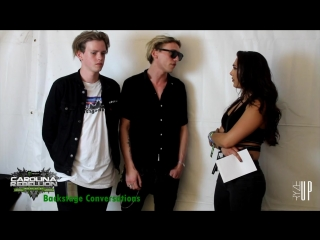 Interview with Jamie  Sam of COUNTERFEIT at Carolina Rebellion 2018 _ Backstage Conversations
