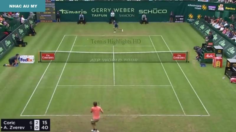 Alexander Zverev vs Borna Coric - Halle Open 2018 (Highlights HD)