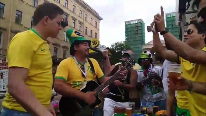 Бразильцы оккупировали Невский