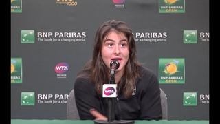 Bianca Andreescu Press Conference   2019 BNP Paribas Semifinals