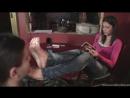 Mistress Lara вылизывает грязные ножки Госпоже licking dirty feet Фут фетиш Foot fetish