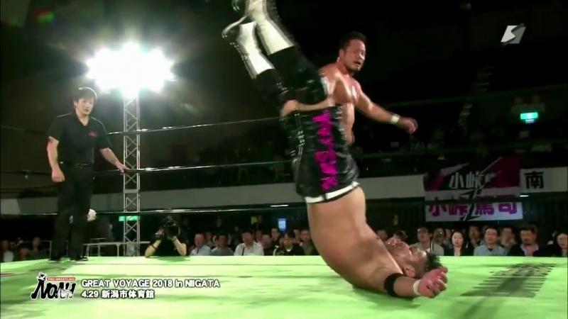 Takashi Sugiura (c) vs. Atsushi Kotoge (NOAH - Great Voyage 2018 in Niigata)
