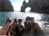 Adam Lambert and Tommy with friends in Mexico on Vacation