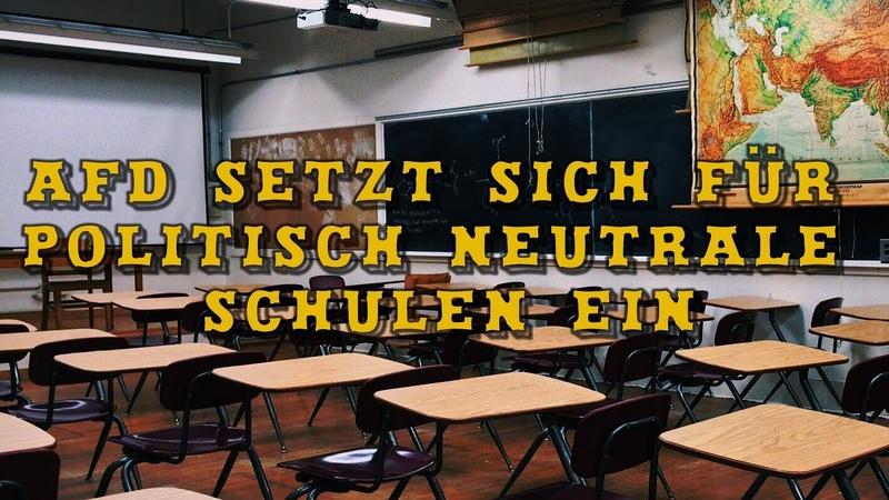 AfD setzt sich für politisch neutrale Schulen ein