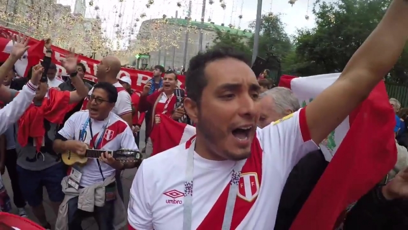 Болельщики сборной Перу Los fans de Perú en moscú 2018 Vamos Perú