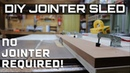 Jointer sled straight cut jig table saw sled