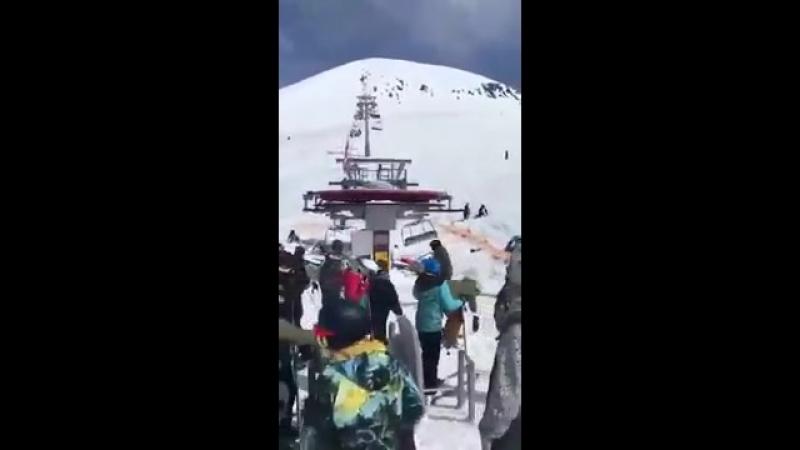 Гудаури Грузия катастрофа подъемник горнолыжный курорт Gudauri accident 16.03.2018