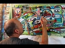 HOW TO PAINT abstract modern LIVE TIMELAPSE ART with RAEART
