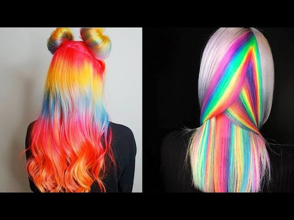 New Hair Color Ideas For 2018! Amazing Rainbow Hair Color Transformation Tutorials Compilations