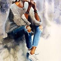 Рисунок профиля (Эля Хасанова)