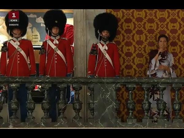 Lis Sørensens sang til Kronprins Frederiks 50 årsdag med Sankt Annæ gymnasiums drenge og mandskor