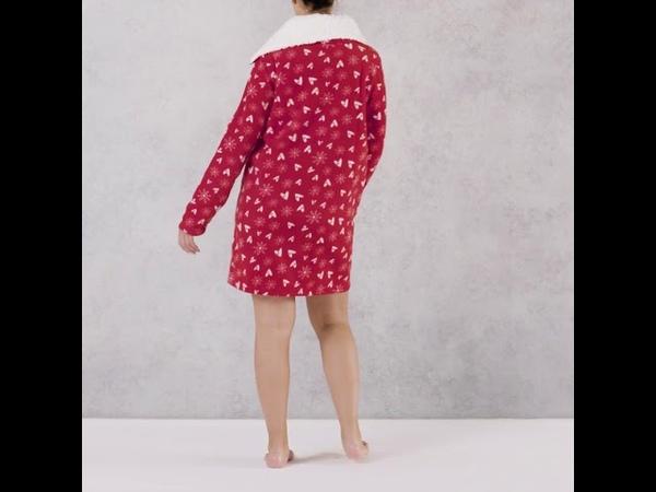 High Neck Cosy Dress: уютное домашнее женское платье