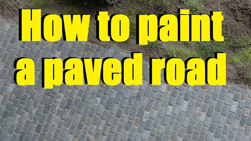 How to paint a paved road on a diorama - Tutorial
