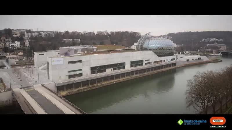 Timelapse construction de la Seine Musicale