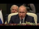 Выступление Президента России Владимира Путина  на заседании саммита БРИКС в расширенном составе.