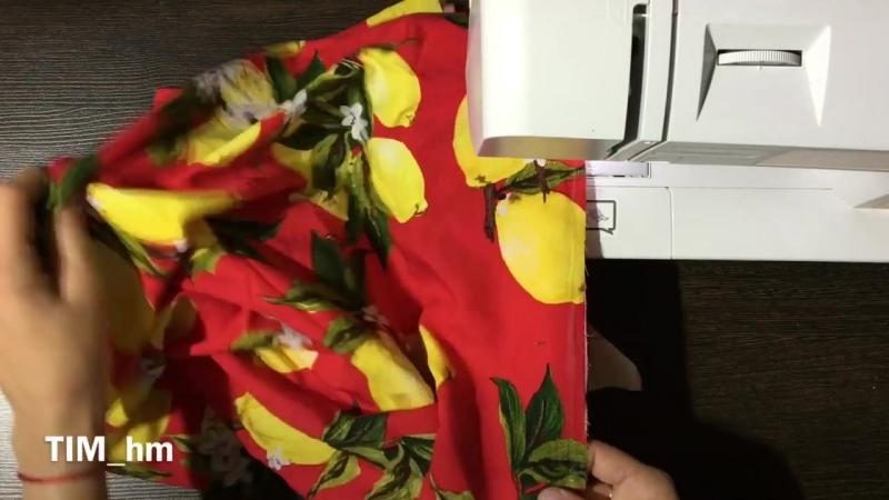Как сшить летнее платье с открытыми плечами 🍋🍋🍋 TIM hm
