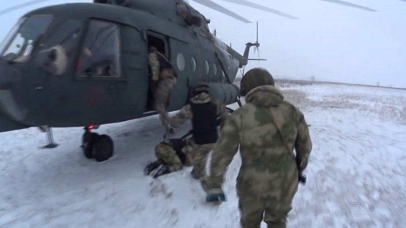 Беспарашютное десантирование ОМОН и СОБР Республики Марий Эл