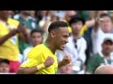 ЧМ-2018: 1/8 БРАЗИЛИЯ - МЕКСИКА! 2:0! ЛУЧШИЕ МОМЕНТЫ
