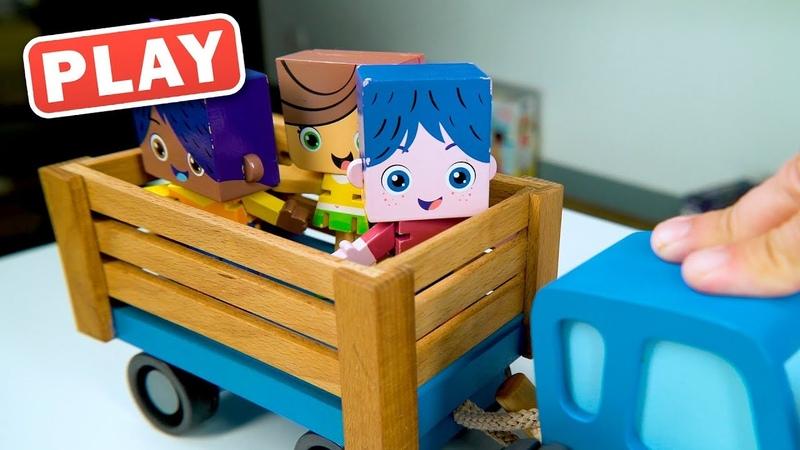 КУКУТИКИ PLAY - Синий Трактор и Знаки Дорожного Движения - Играем в Машинки