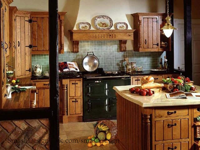 Кухни в деревенском стиле
