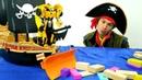 Мультики для мальчиков. Трансформеры очищают море. Видео с игрушками.