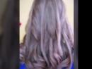 Очень красивый оттенок блонда Пепельно розовый цвет Сложное окрашивание Стрижка