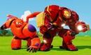 Мультик игра для детей Бэймакс Город героев, Халкбастер и Тачки машинки на русском Baymax Cars