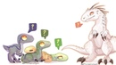 Indominus and the Raptors - SpeedPaint