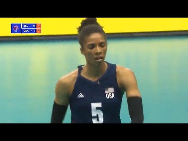 USA v Belgium — 2018 Volleyball Nations League | Full Highlights | Women's