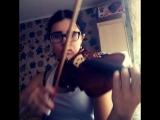 Раньше после окончания музыкальной школы я не думала,что буду брать скрипку в руки,но прошло время и я поняла ,что порой музыка,