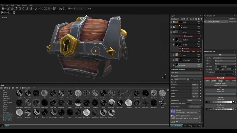 01 Stylised Texturing in Substance Painter introduction