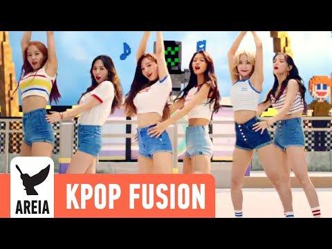 AOA - Bingle Bangle (빙글뱅글)   Areia Kpop Fusion 40 REMIX
