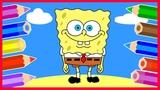 Рисуем Губку Боба Квадратные Штаны. SpongeBob SquarePants.